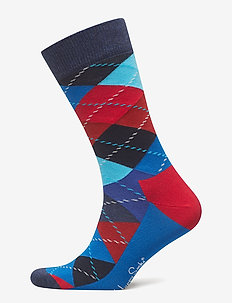 Argyle Sock - tavalliset sukat - blue