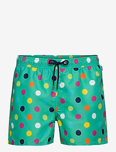 Big Dot Swim Shorts - badebukser - green