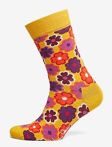 Flower Power Sock - BLACK