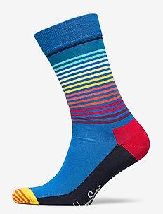 Half Stripe Sock - BLUE