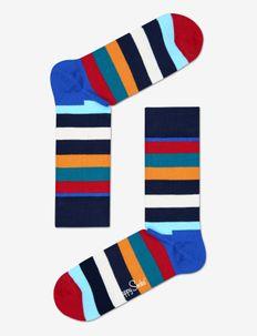 Stripe Sock - BLUE/RED/ORANGE