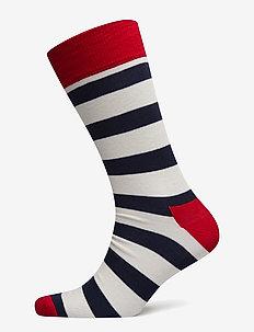 Stripe Sock - regular socks - red