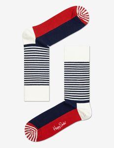 Half Stripe Sock - reguläre strümpfe - blue