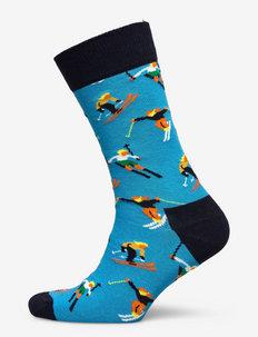 Skiing Sock - skarpety crew - medium blue