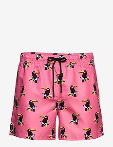 Toucan Swim Shorts - uimashortsit - pink