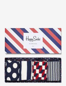4-Pack Classic Navy Socks Gift Set - reguläre strümpfe - blue