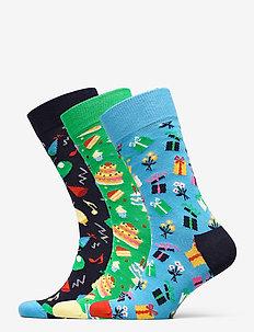 3-Pack Happy Birthday Socks Gift Set - regular socks - multi