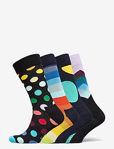 4-Pack Classic Multi-color Socks Gift Set - vanliga strumpor - multi