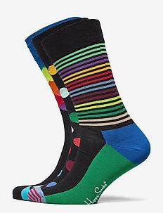 3-Pack Classic Multi-Color Socks Gift Set - normalne skarpetki - multi