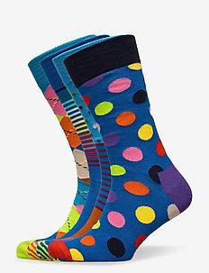 4-Pack Classic Multi-Color Socks Gift Set - normalne skarpetki - multi