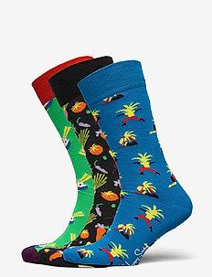 3-Pack Healthy Lifestyle Socks Gift Set - reguläre strümpfe - multi