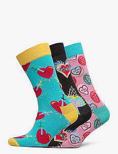 3-Pack I Love You Socks Gift Set - regulære sokker - multi