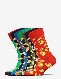7-Pack 7 Days of Food Socks Gift Set - ankelsokker - multi