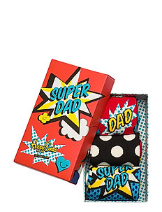 3-Pack Father's Day Socks Gift Set - tavalliset sukat - red