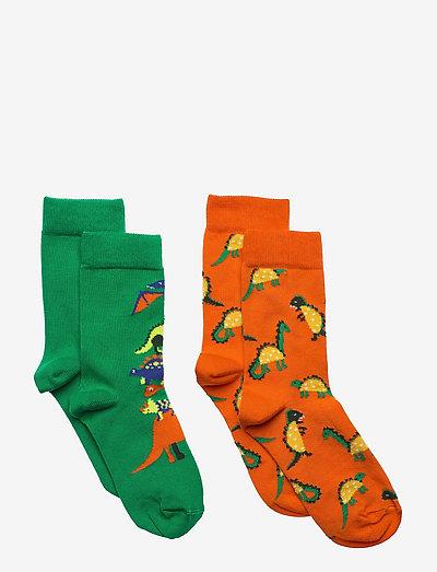 2-pack Kids Dinos Socks - skarpetki - orange