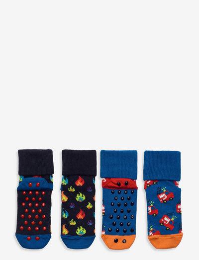 2-Pack Kids Firetruck Anti Slip - skarpetki antypoślizgowe - medium blue