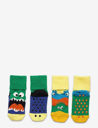 2-Pack Kids Monsters Anti Slip - skarpetki antypoślizgowe - multi
