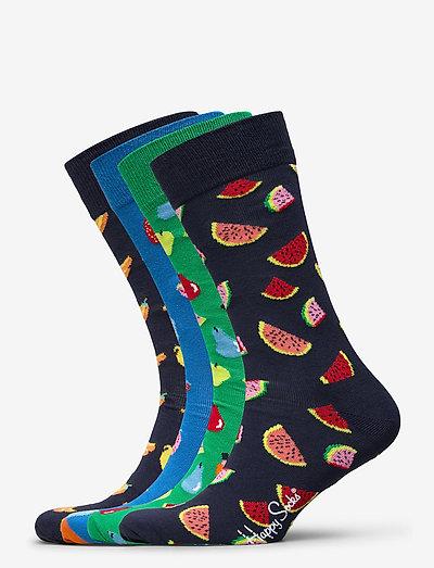 4-Pack Fruit Socks Gift Set - skarpety crew - multi
