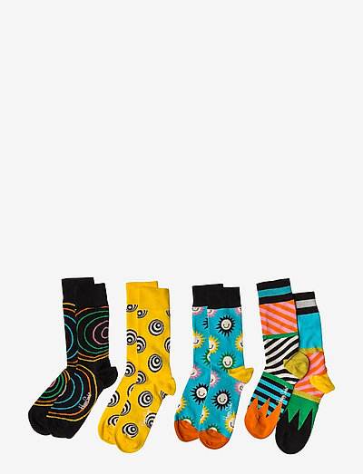 Happy Socks Psychedelic Gift Box- Skarpety Black