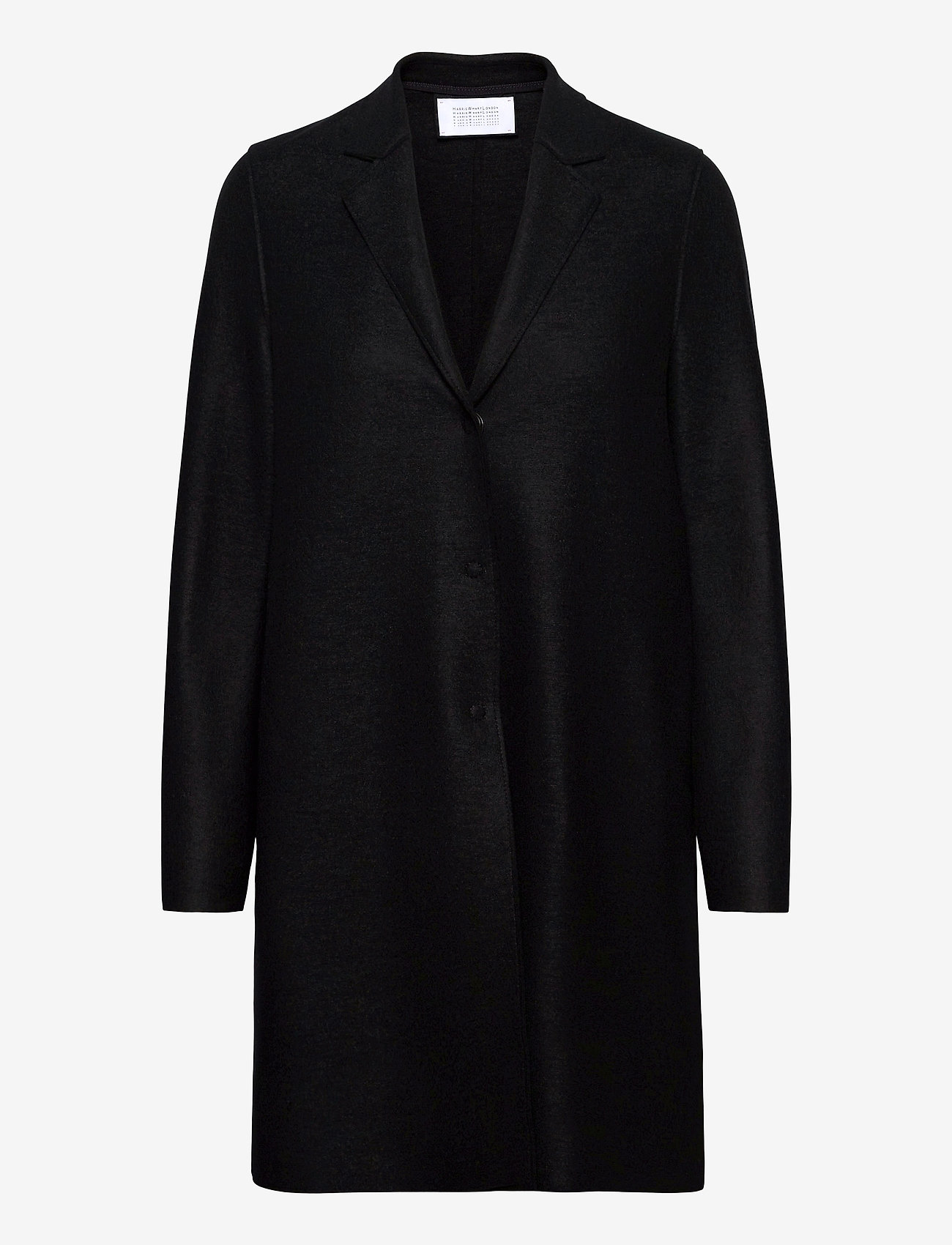 Harris Wharf London - Women Cocoon Coat Light Pressed Wool - wollmäntel - black - 0