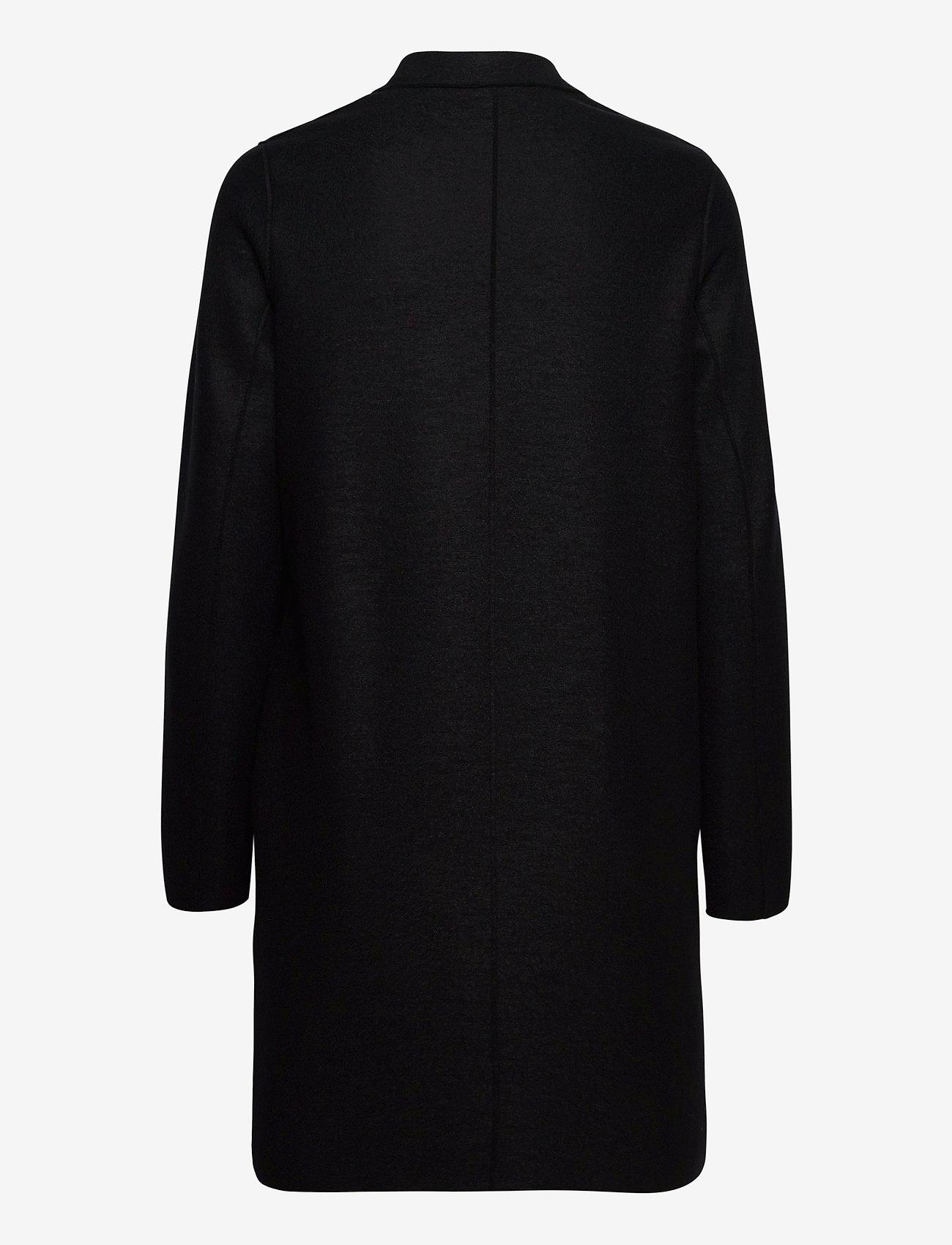 Harris Wharf London - Women Cocoon Coat Light Pressed Wool - wollmäntel - black - 1