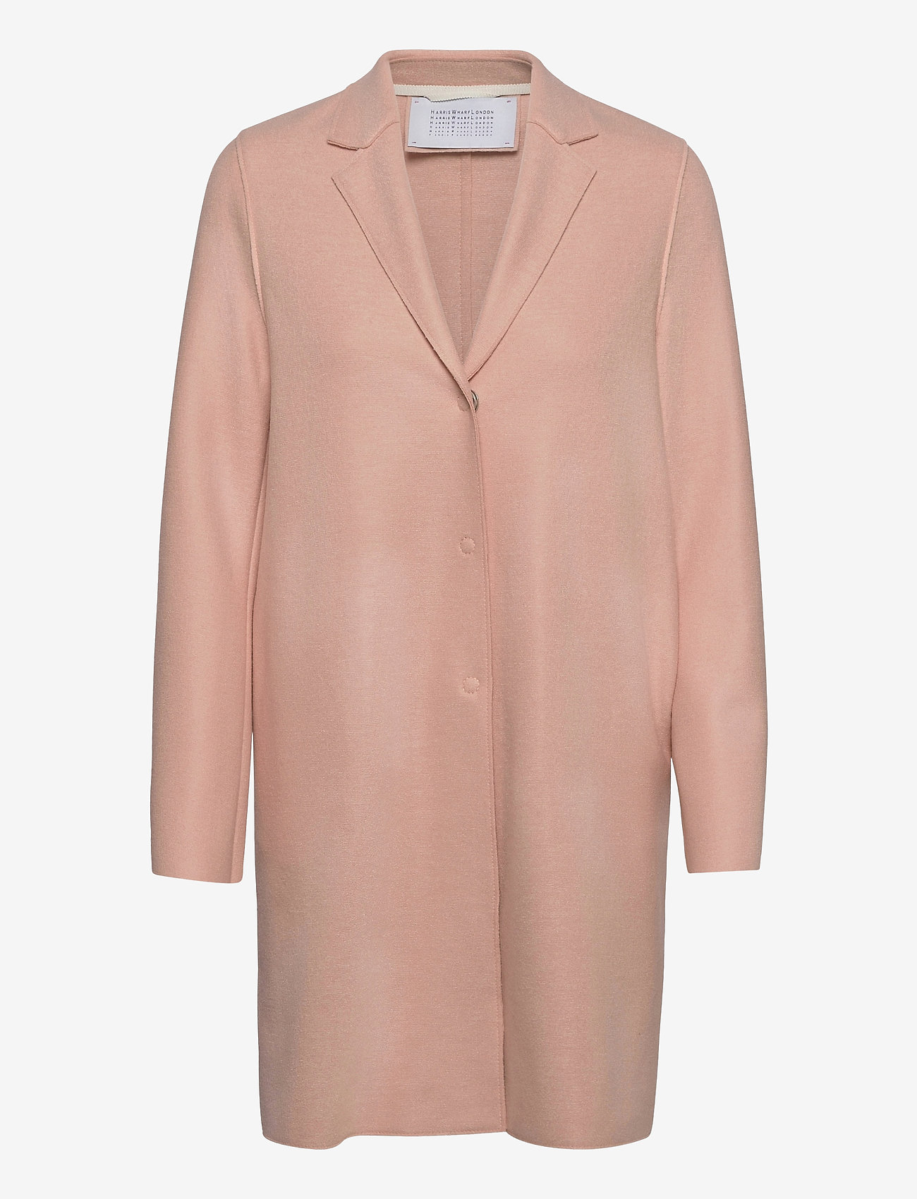Harris Wharf London - Women Cocoon Coat Light Pressed Wool - wollmäntel - powder rose - 0