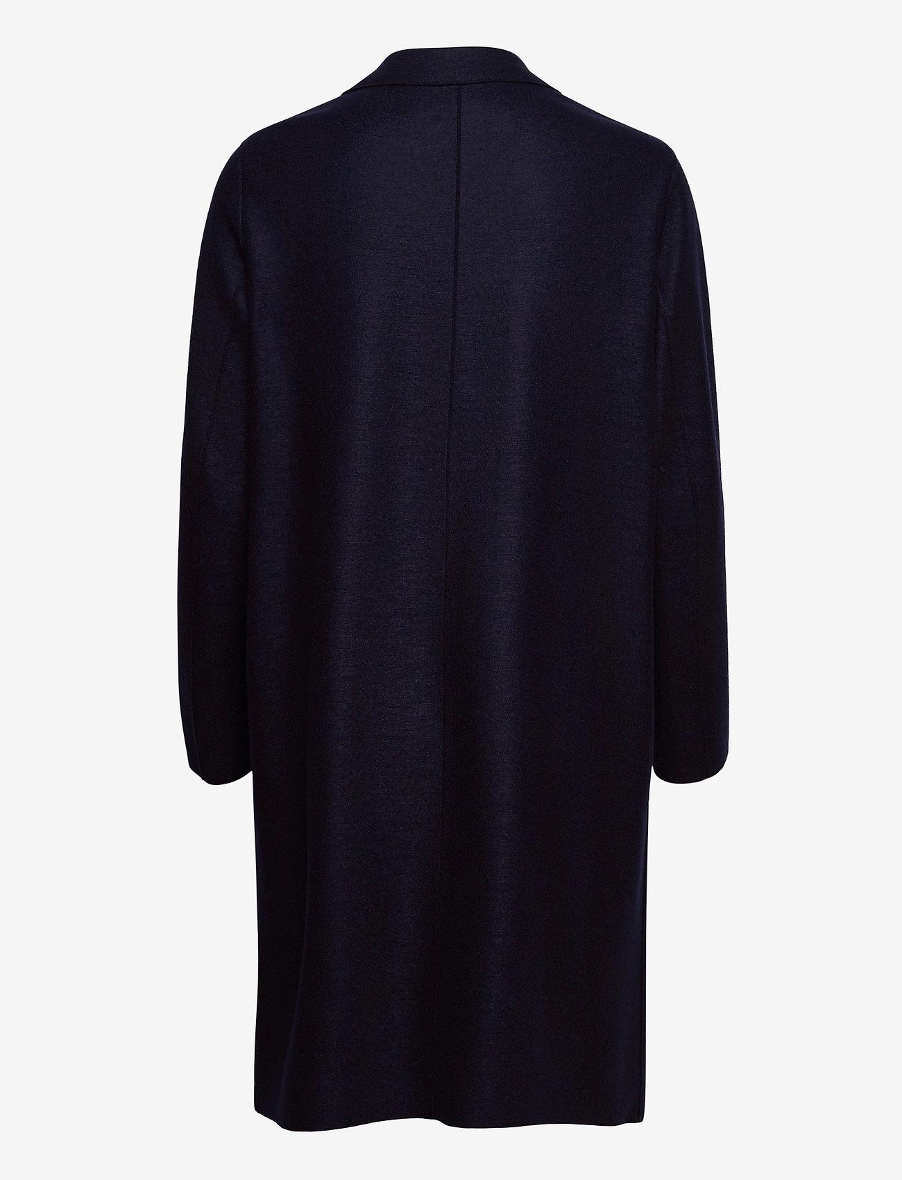 Harris Wharf London - Women Overcoat Light Pressed Wool - wollmäntel - navy blue - 1