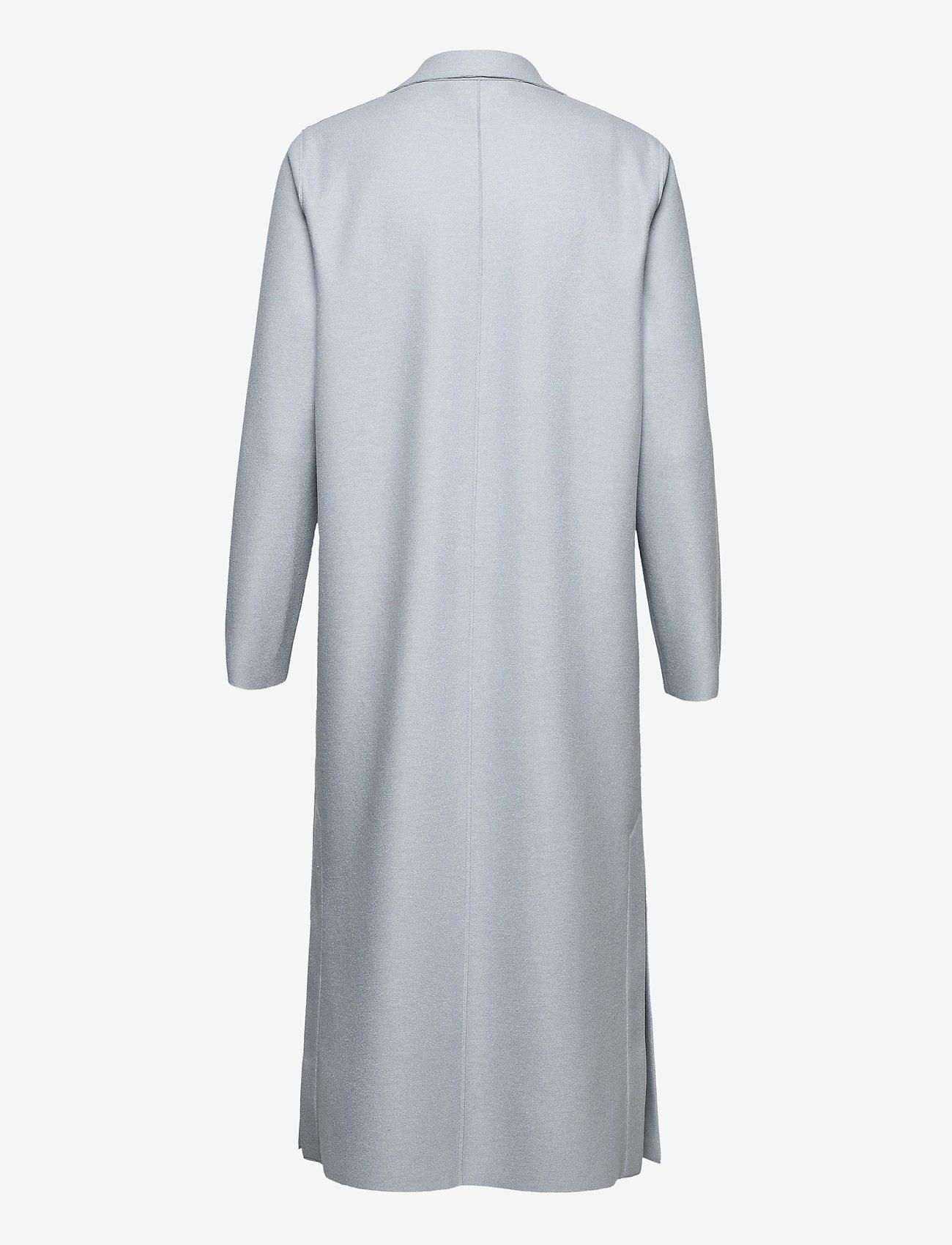 Harris Wharf London - Women Long Boxy Coat With Patch Pockets Light P. Wool - wollmäntel - grey blue - 1