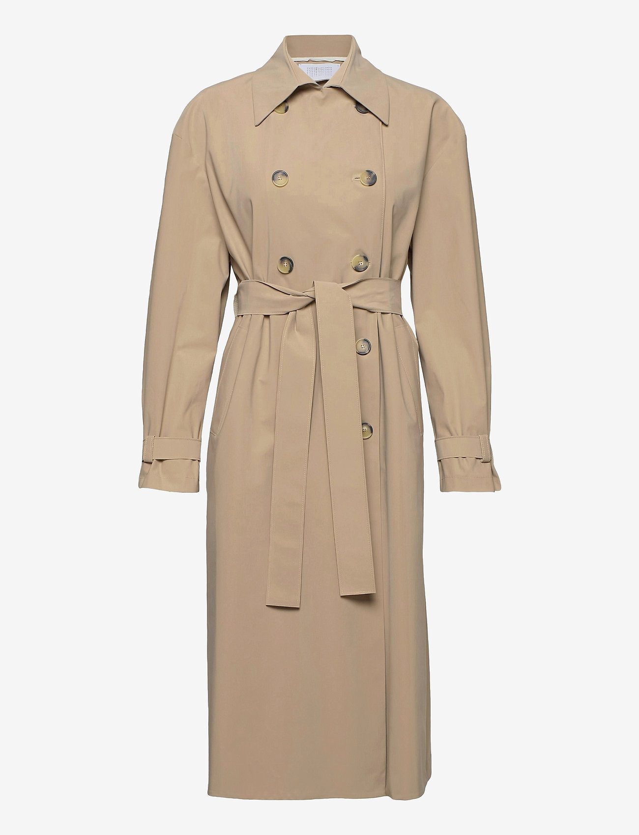 Harris Wharf London - Women Oversized Trench Coat Light Technic - mäntel - camel - 0