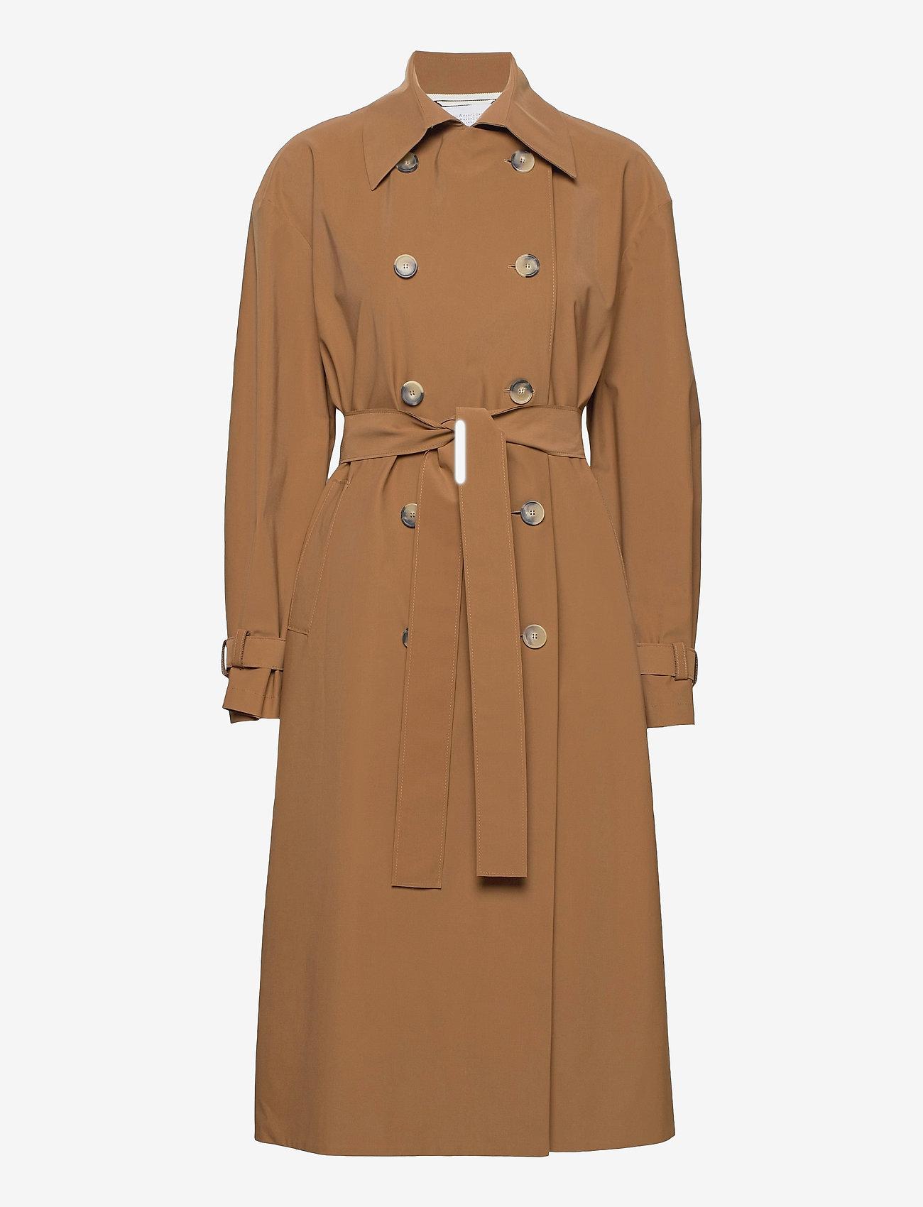 Harris Wharf London - Women Oversized Trench Coat Light Technic - mäntel - tobacco - 0