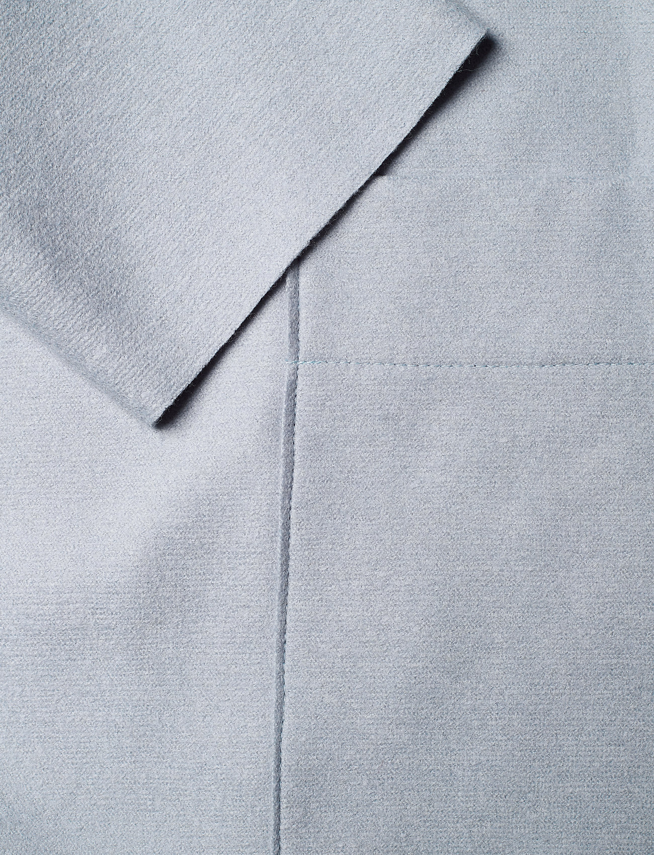 Harris Wharf London - Women Long Boxy Coat With Patch Pockets Light P. Wool - wollmäntel - grey blue - 4