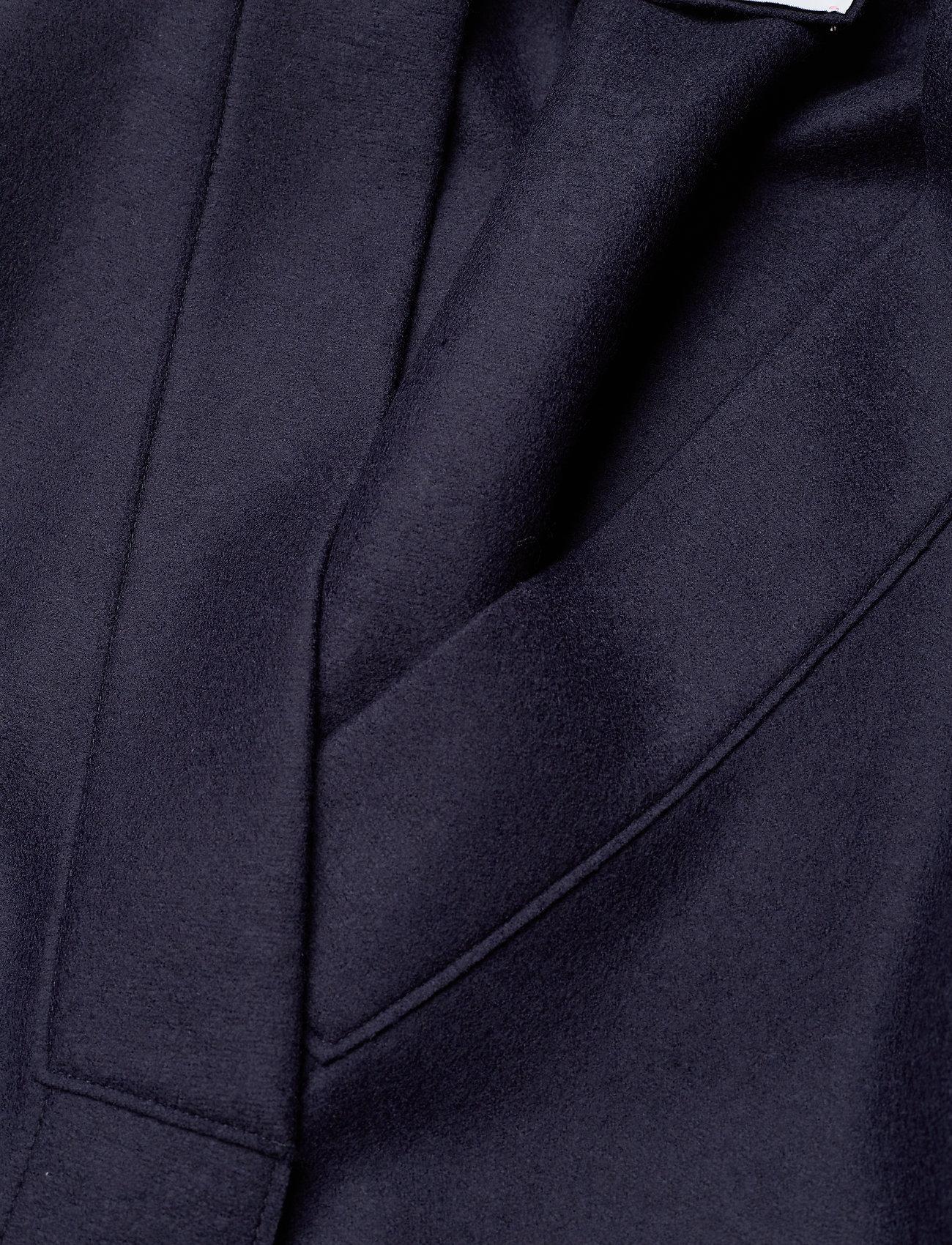 Harris Wharf London - Women Kimono Coat With Vents Light Pressed Wool - wollmäntel - navy blue - 2