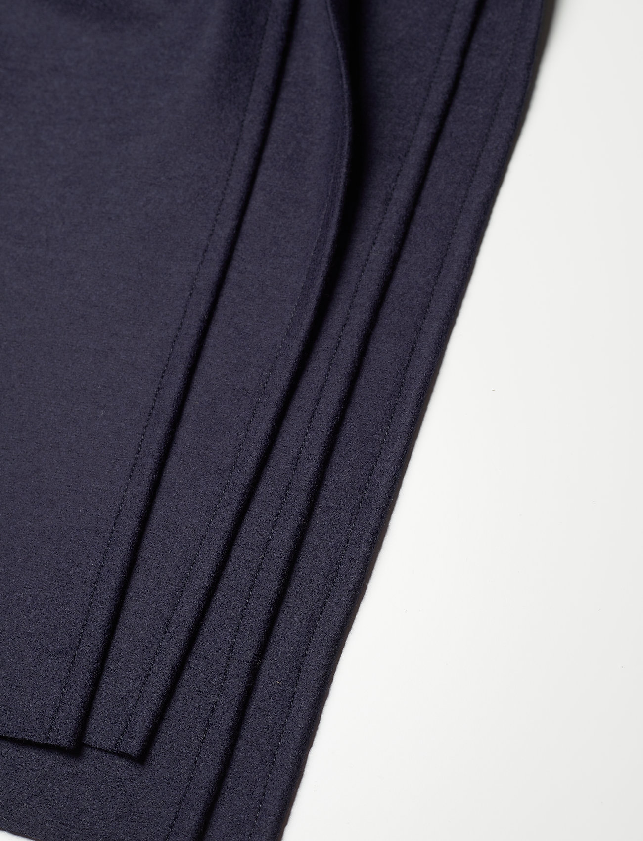 Harris Wharf London - Women Kimono Coat With Vents Light Pressed Wool - wollmäntel - navy blue - 4
