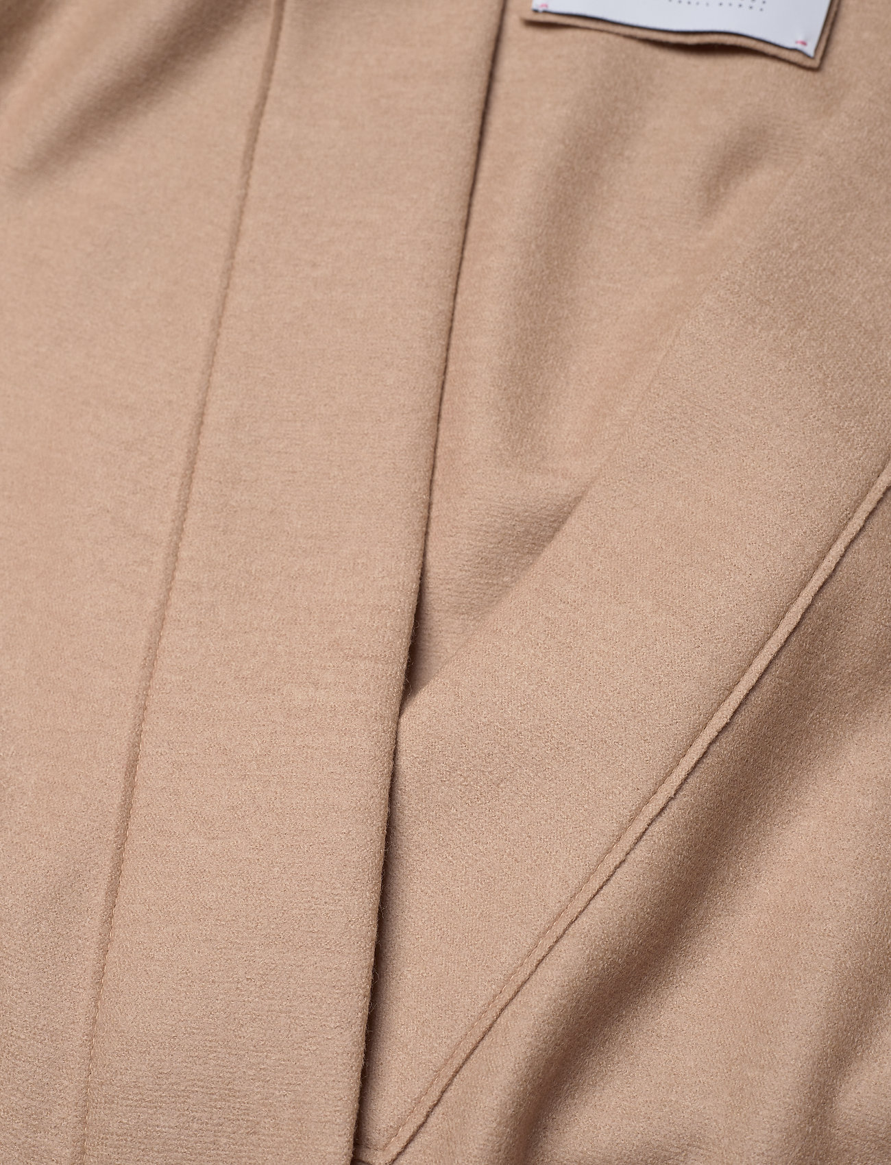 Harris Wharf London - Women Kimono Coat With Vents Light Pressed Wool - wollmäntel - sand - 2