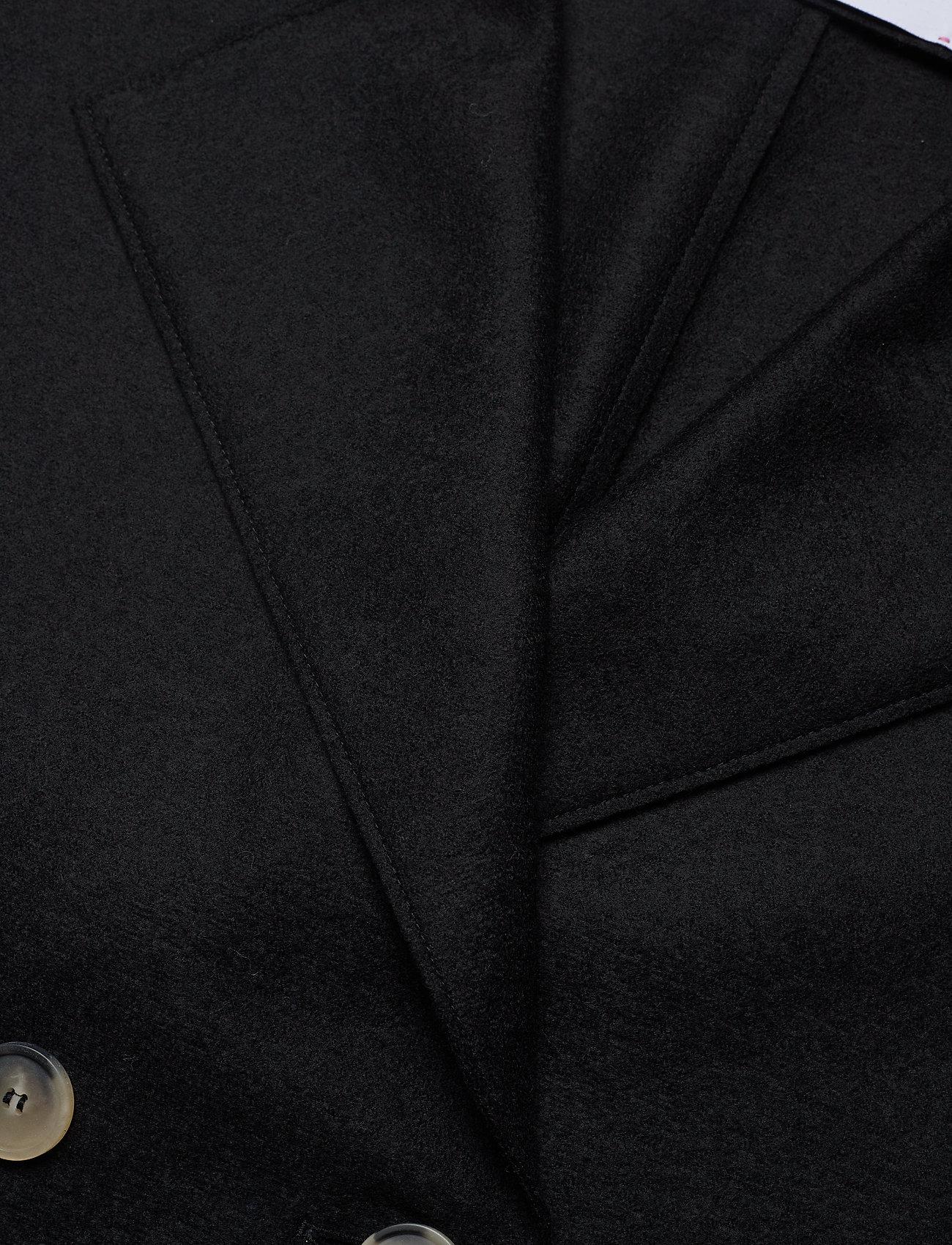 Harris Wharf London - Women Dropped Shoulder D. B. Jacket Light Pressed Wool - jacken - black - 2