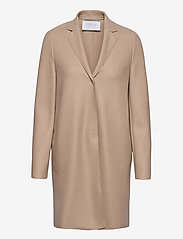 Women Cocoon Coat Light Pressed Wool