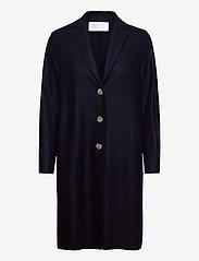 Harris Wharf London - Women Overcoat Light Pressed Wool - wollmäntel - navy blue - 0