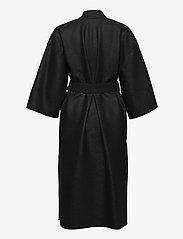 Harris Wharf London - Women Kimono Coat With Vents Light Pressed Wool - wollmäntel - black - 1