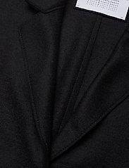 Harris Wharf London - Women Cocoon Coat Light Pressed Wool - wollmäntel - black - 2