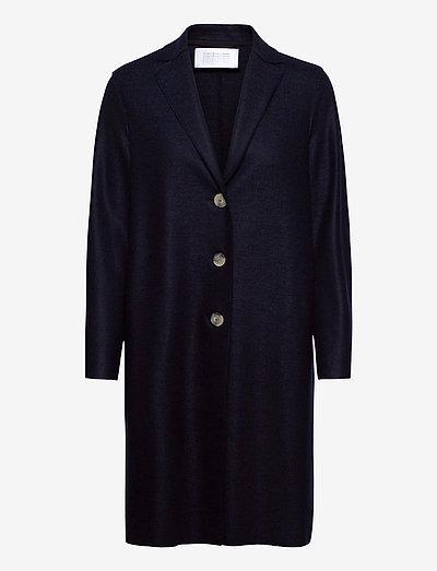 Women Overcoat Light Pressed Wool - wollmäntel - navy blue