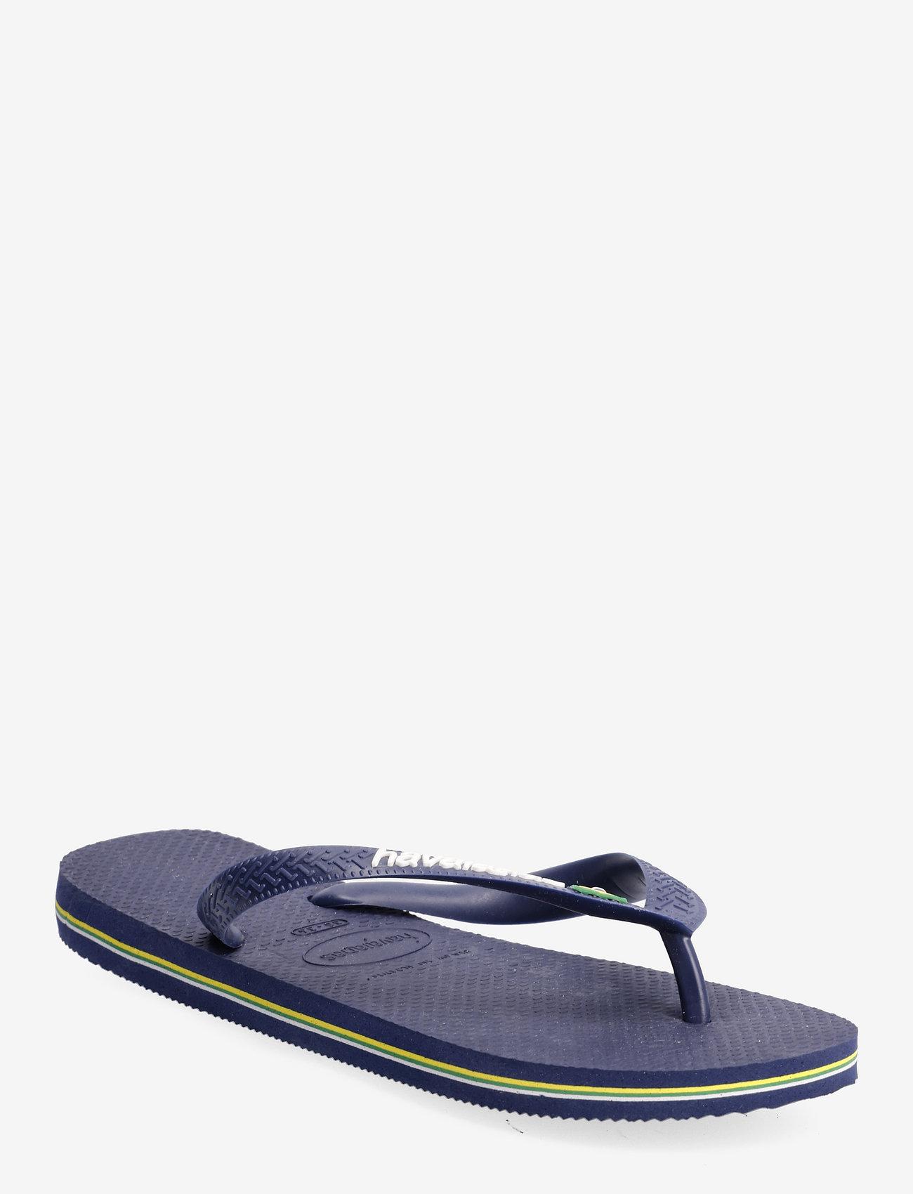 Havaianas - BRASIL LOGO FLIP FLOP - slipper - blue - 0