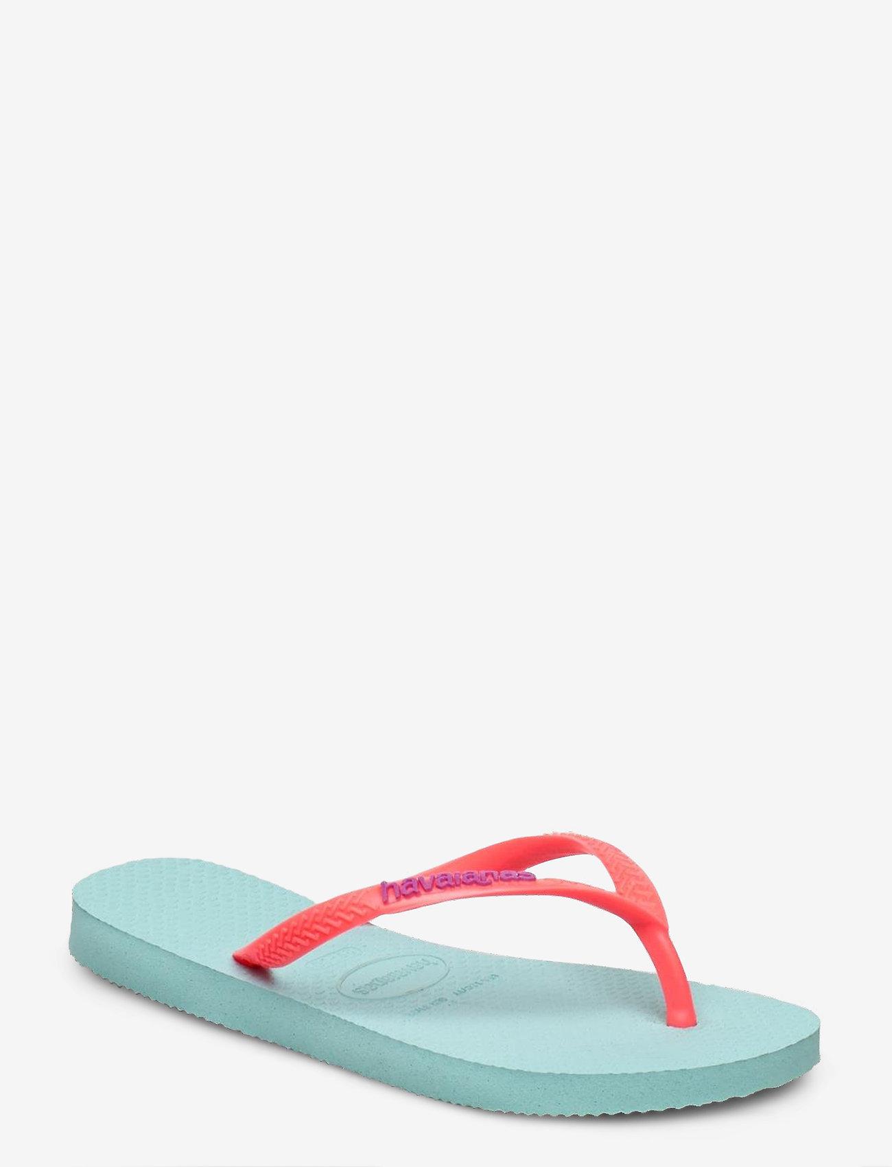 Havaianas - Hav Slim Logo - tongs - ice blue/coral 0274 - 0