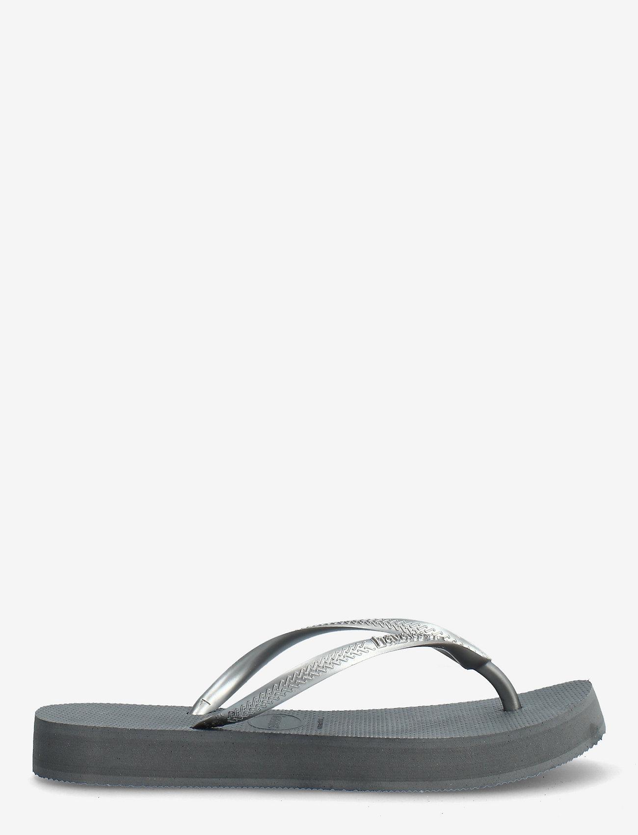 Havaianas - Slim Flatform - teenslippers - steel grey 5178 - 1