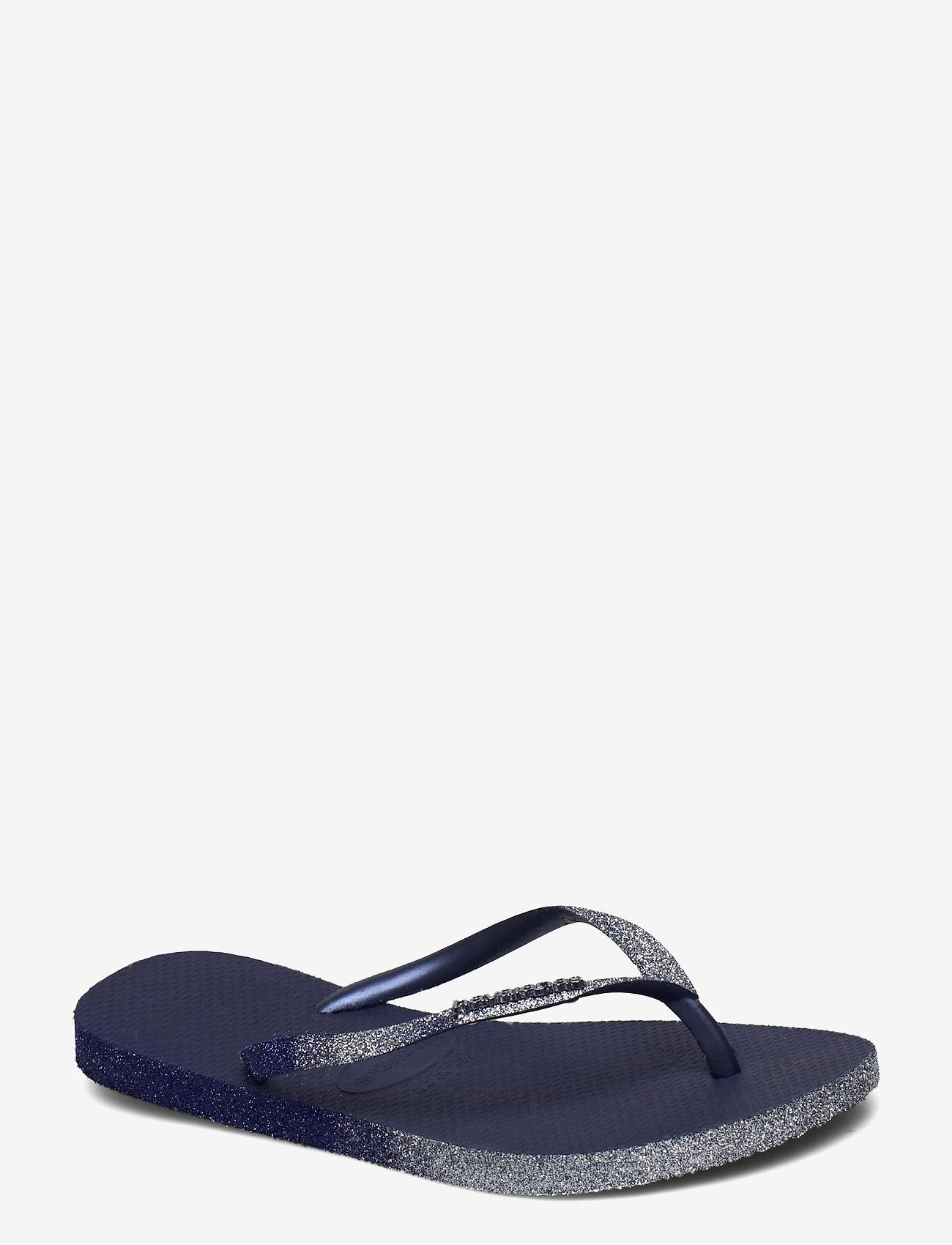 Havaianas - Sllim Sparkle II - teenslippers - navy blue 0555 - 0