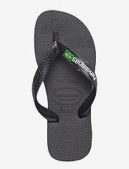 Havaianas - Hav Kids Brazil Logo - slipper - black/black 1069 - 5