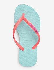 Havaianas - Hav Slim Logo - tongs - ice blue/coral 0274 - 3