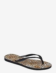 Havaianas - Slim Leopard - teenslippers - black/black 1069 - 0
