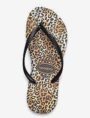 Havaianas - Slim Leopard - teenslippers - black/black 1069 - 3