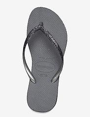 Havaianas - Sllim Sparkle II - teenslippers - steel grey 5178 - 3