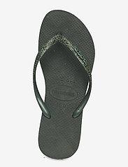 Havaianas - Slim Glitter II - teenslippers - green olive 4896 - 3